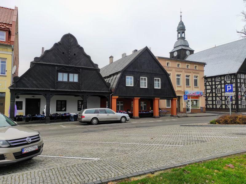 Domy podcieniowe w Rakoniewicach